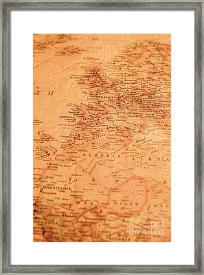 Old Maritime Map Framed Print by Jorgo Photography - Wall Art Gallery