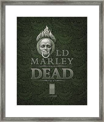 Old Marley Framed Print