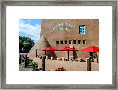 Old Martina's Hall - Taos, New Mexico Framed Print