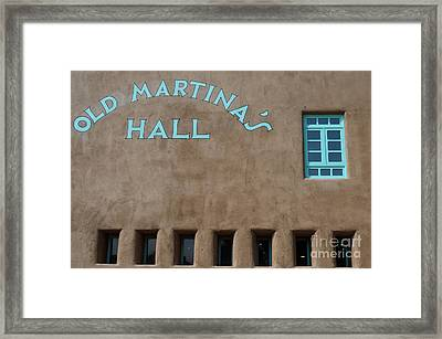 Old Martina's Hall - Turquoise Window Framed Print