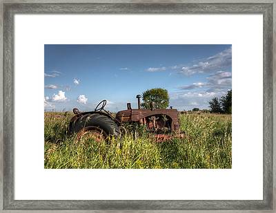Old Massey-harris Tractor Framed Print