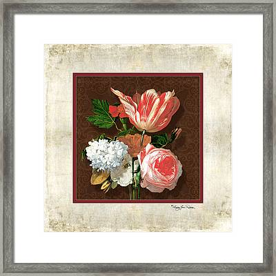 Old Masters Reimagined - Parrot Tulip Framed Print by Audrey Jeanne Roberts