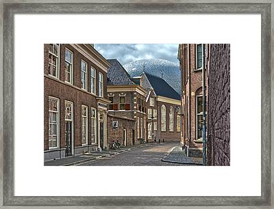Old Meets New In Zwolle Framed Print
