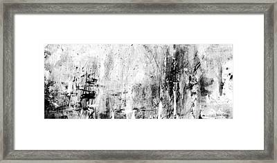 Old Memories - Balck And White Abstract Art By Laura Gomez - Strip-long Size Framed Print by Laura  Gomez