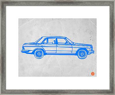 Old Mercedes Benz Framed Print by Naxart Studio