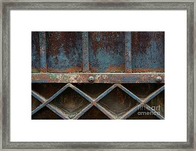Framed Print featuring the photograph Old Metal Gate Detail by Elena Elisseeva