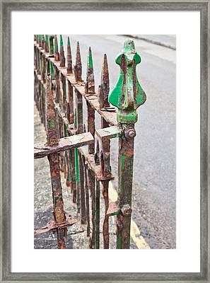 Old Metal Railings Framed Print
