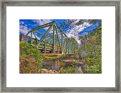 Framed Print featuring the photograph Old Metal Truss Bridge Newport New Hampshire by Edward Fielding
