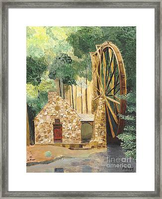 Framed Print featuring the painting Old Mill At Berry College by Rodney Campbell