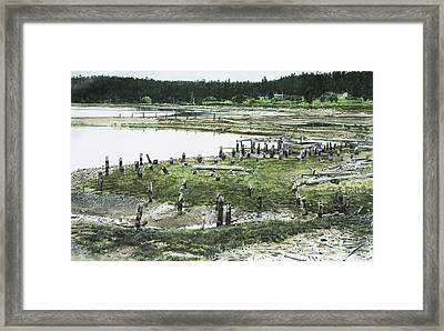 Old Mill At End Of Penn Cove Framed Print by Perry Woodfin