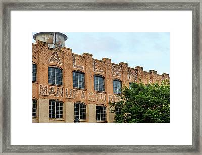 Old Mill Building In Buford Framed Print