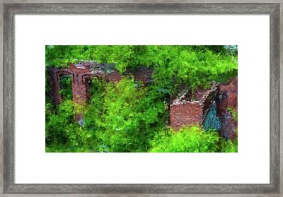 Old Mill Building In Lawrence Massachusetts Framed Print
