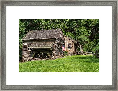 Old Mill Cuttalossa Farm Pennsylvania Framed Print