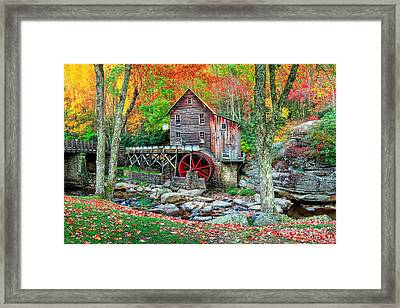 Old Mill Framed Print by Emmanuel Panagiotakis