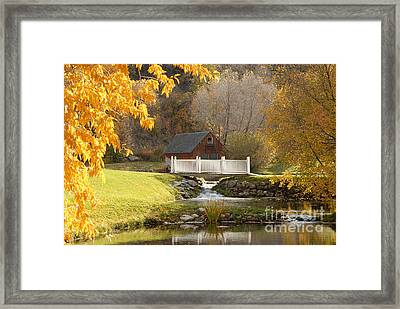 Old Mill In Autumn Framed Print by Dennis Hammer