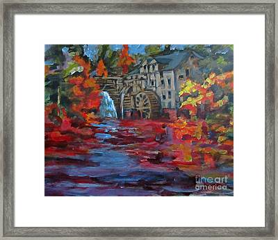 Old Mill In Autumn Framed Print by John Malone