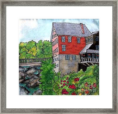Old Mill In Bradford Framed Print by Linda Marcille