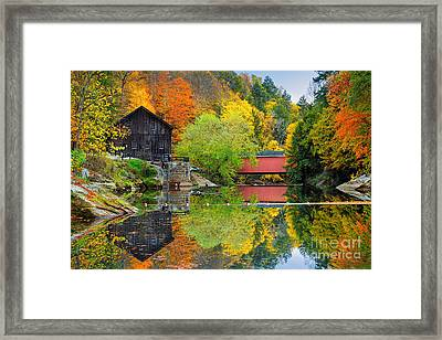 Old Mill In The Fall  Framed Print