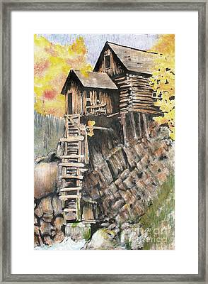 Old Mill In The Rockies Framed Print
