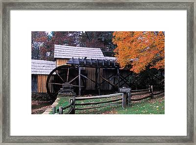Old Mill In Virginia Framed Print by Carl Purcell