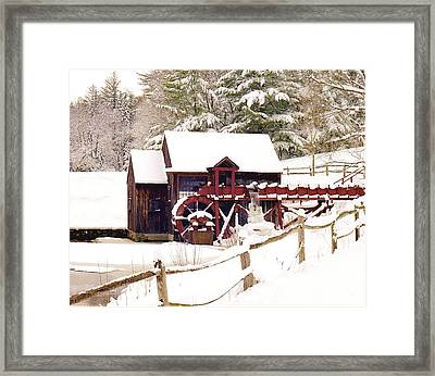 Old Mill In Winter Framed Print