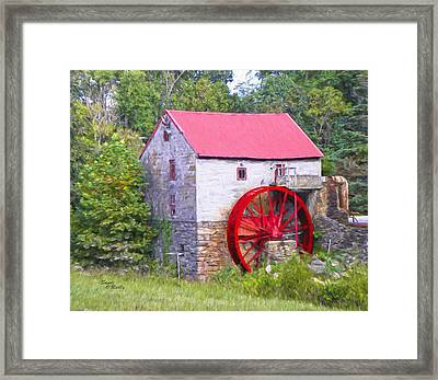 Old Mill Of Guilford Painted Framed Print by Sandi OReilly