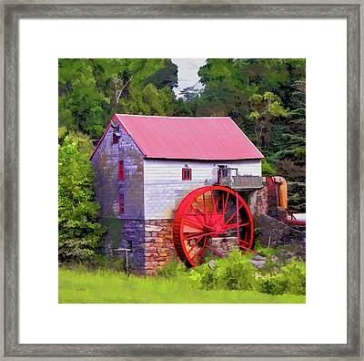Old Mill Of Guilford Painted Square Framed Print by Sandi OReilly