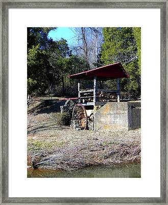 Framed Print featuring the photograph Old Mill Of Guilford Pumphouse by Sandi OReilly