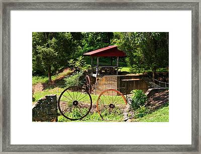 Old Mill Of Guilford Setting Framed Print by Kathryn Meyer