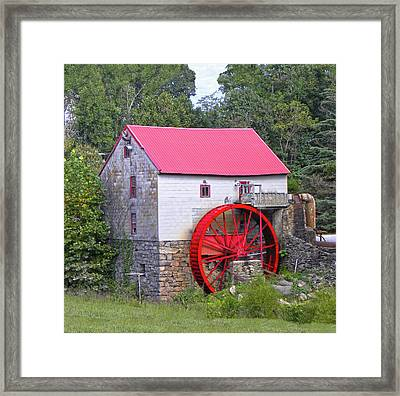 Old Mill Of Guilford Squared Framed Print by Sandi OReilly