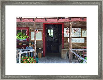 Old Mill Of Guilford Storefront Framed Print by Kathryn Meyer