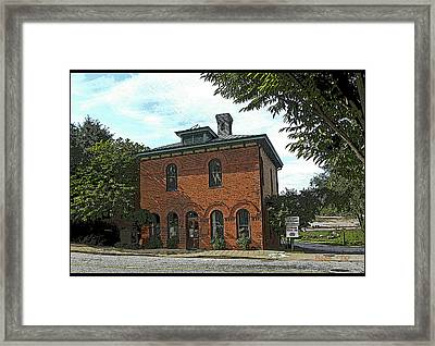Framed Print featuring the photograph Old Mill Office by Larry Bishop