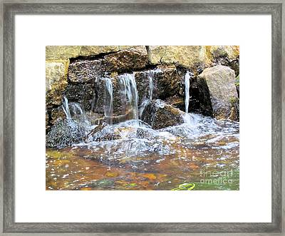 Old Mill Remains Framed Print by Elizabeth Dow