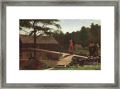 Old Mill, The Morning Bell, 1871 Framed Print by Winslow Homer