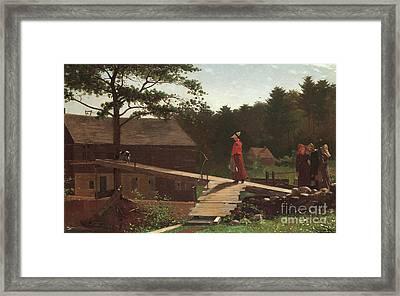 Old Mill, The Morning Bell, 1871 Framed Print