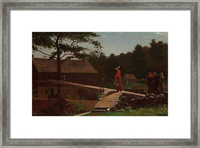 Old Mill - The Morning Bell Framed Print by Mountain Dreams