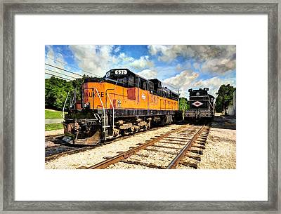 Old Milwaukee Engine # 532 Framed Print by Mel Steinhauer
