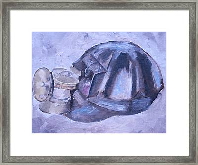 Old Miner Hat Framed Print by Mikayla Ziegler