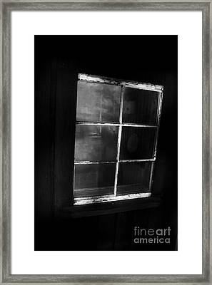 Old Miners Cabin Window Framed Print