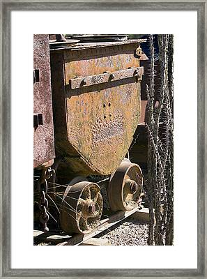 Old Mining Car Framed Print