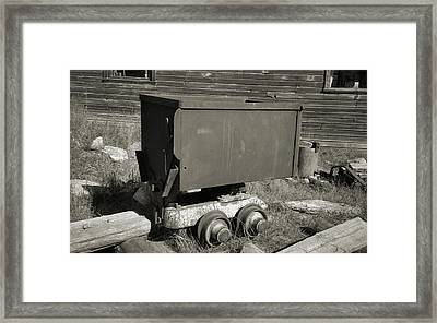 Old Mining Cart Framed Print