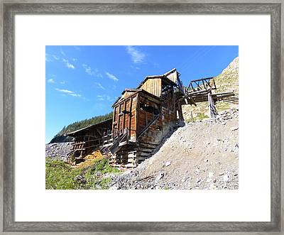 Old Mining Shaft Framed Print by Jeff Swan