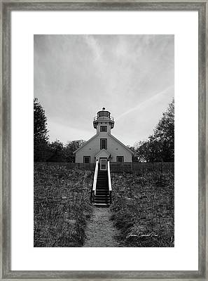 Framed Print featuring the photograph Old Mission Point Lighthouse by Joann Copeland-Paul