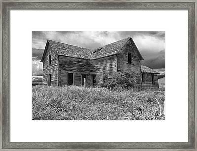 Old Montana Farmhouse Framed Print by Sandra Bronstein
