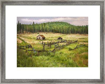 Old Montana Homestead Framed Print by Sharon Foster