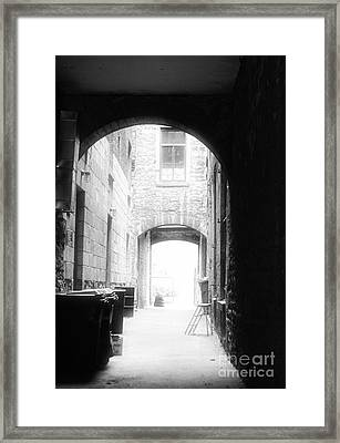 Old Montreal Alley Framed Print by John Rizzuto