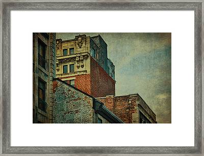 Old Montreal - Architectural Details Framed Print by Maria Angelica Maira
