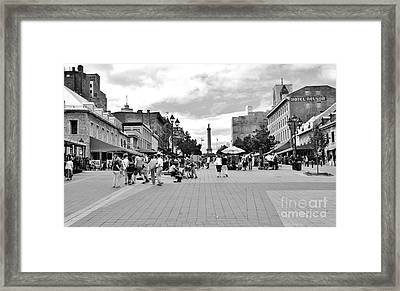 Old Montreal Jacques Cartier Square Framed Print by Reb Frost