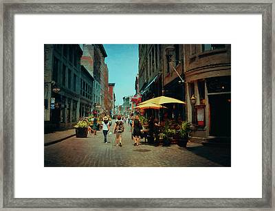 Old Montreal - Quebec Framed Print by Maria Angelica Maira