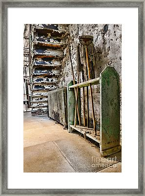 Old Mop Stand Framed Print by Paul Ward